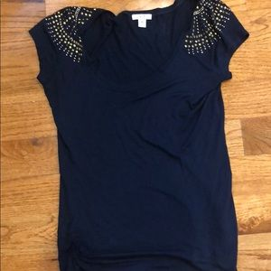 Cache Navy with Gold Studded Tank